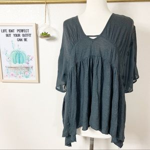 Free People New World Sunny Kafta Gray Sz XS